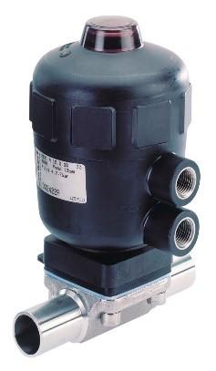 Vanne à membrane corps INOX manuelle ou motorisée 01