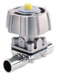 Vanne à membrane corps INOX manuelle ou motorisée 02